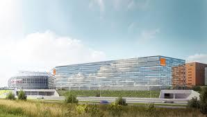 orange siege eiffage construction et orange posent la première du futur