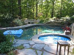 Pool And Patio Decor Custom Outdoor Living Natural Stone Patio And Swimming Pool Design