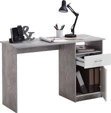 Schreibtische Jugendschreibtisch Schreibtisch Jackson Beton Optik Weiß U0026 9654 Online Bei Poco Kaufen