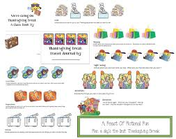 places to go for thanksgiving vacation classroom freebies fictional fun thanksgiving writing prompts