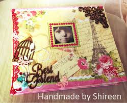 best friend photo album handmade creations by shireen best friend theme scrapbook album