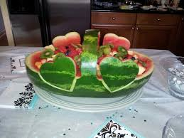carved bridal carved watermelon for bridal shower party ideas