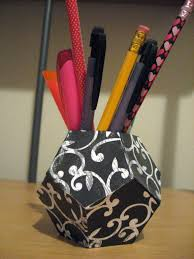 cool pen holders diy geometric pen holder make something mondays