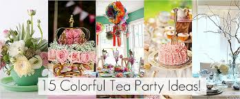 tea decorations contemporary colorful tea ideas for