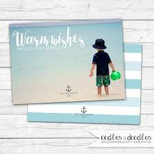 nautical christmas card personalized photo holiday card warm