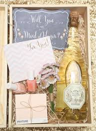 ideas for asking bridesmaids to be in your wedding creative ideas for asking your bridesmaids proposals box and gift