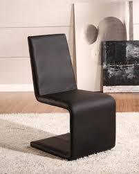 Lydia Black Leather Chrome Chairs Dining Rooms Cool Contemporary Black Leather Dining Chairs