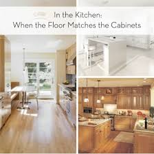 coordinating wood floor with wood cabinets this old box when wood floors match the kitchen cabinets curbly