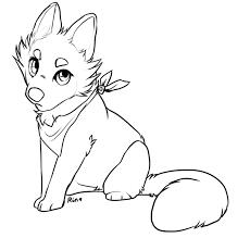 lines free fox wolf cub rinermai deviantart