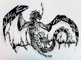 fire dragon tribal tatto design by morriganmoonflower on deviantart