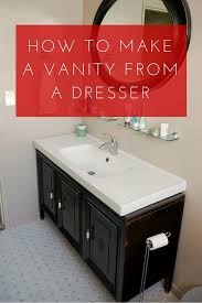 How To Make Bathroom Cabinets - lovely imperfection how to make a vanity from a dresser lovely