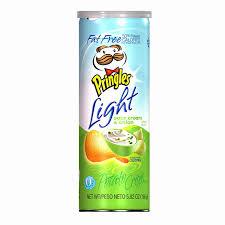 amazon com pringles light fat free potato crisps sourcream