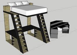 concept image loft bed w desk i designed in google sketchup for