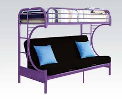 Finish Metal C Shape Twin Over Full Futon Bunk Bed With Ladder - Full futon bunk bed