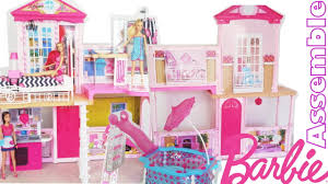 Barbie Dolls House Furniture Barbie 31 Inch Dollhouse Party Pool House Mansion Assemble