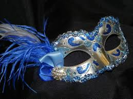 masquerade masks with feathers feather masquerade mask in light blue royal blue and silver
