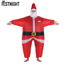santa costume christmas santa costume jumpsuit air fan operated