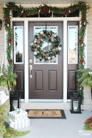 Best Outdoor Christmas Decorations by Best 25 Christmas Entryway Ideas Only On Pinterest French