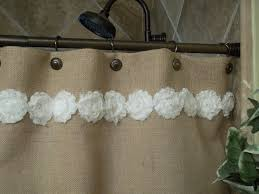 White Lace Shower Curtain by Bathroom Ruffled Burlap Curtains Country Cottage Shower