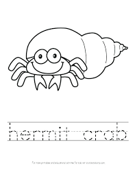 Hermit Crab Coloring Pages Printable For Kids Page Dazzling Kid Crab Coloring Page