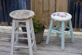 Shabby Chic Stools by From Shabby To Chic Flower Patch Farmhouse