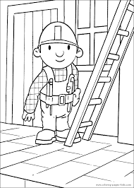 bob the builder color page cartoon color pages printable