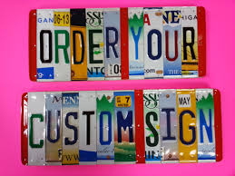 handmade personalized gifts license plate sign per character unique handmade personalized gift