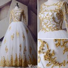 gold wedding dresses white gold wedding dresses 2017 scoop neck shoulders sleeve