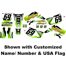ama pro motocross numbers titanium graphics kit 5 color options pro style mx