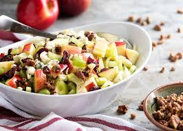 pecan blue cheese and apple salad just a little bit of bacon