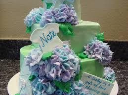 elegant baby shower cake w hydrangeas cakecentral com
