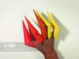 Origami Paper Claws - origami for how to make an origami for paper