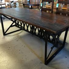 iron trestle table nadeau nashville