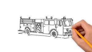fire truck transport pencil to draw step by step youtube