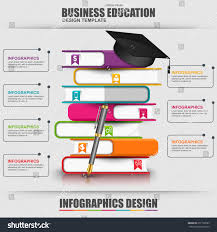 books step education infographic vector design stock vector