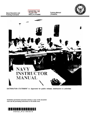 us navy course navedtra 134 navy instructor manual self