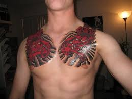 foo on chest for guys 2 tattoos book 65 000 tattoos