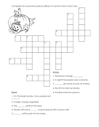 thanksgiving day puzzles crossword puzzle