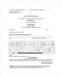 sales tax invoice 40 sample printable invoices