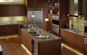Kitchen Cabinets Lighting Awesome Under Kitchen Cabinets Lighting Featuring Led Strips