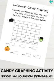 free printable halloween candy graphing activity this
