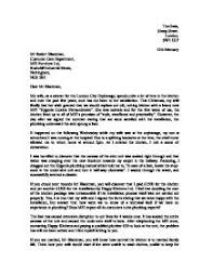 letter of complaint gcse english marked by teachers com