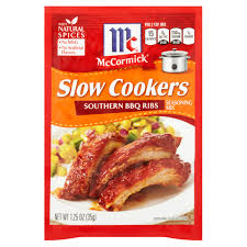 mccormick slow cookers southern bbq ribs seasoning mix 1 25 oz