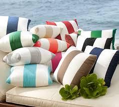 sunbrella awning stripe indoor outdoor pillow pottery barn