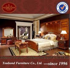 Royal Bedroom Set by 0029 Italian Royal Wooden Furniture Style Luxury Brass Decoration