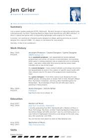 Designer Resume Examples by Assistant Producer Resume Samples Visualcv Resume Samples Database