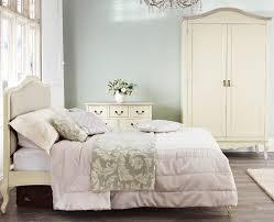 Bed Frame Skirt Bedroom Shabby Chic Chagne Upholstered Bed Frame
