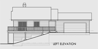 home plans for sloping lots house plans with side garage sloping lot house plans house plan