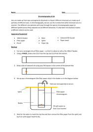 chromatography lesson with worksheet by rcmcauley teaching