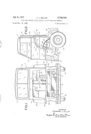 patent us2798568 cab over engine truck having a lift type cab